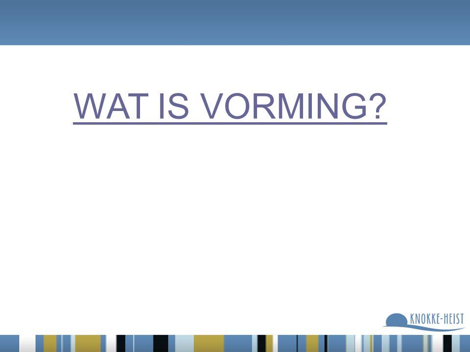 WAT IS VORMING?