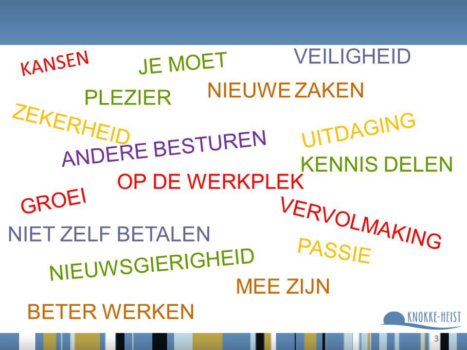 4 Schakel Wij zijn allemaal een SCHAKEL om de missie van de gemeente Knokke-Heist waar te maken en de waarden uit te dragen!
