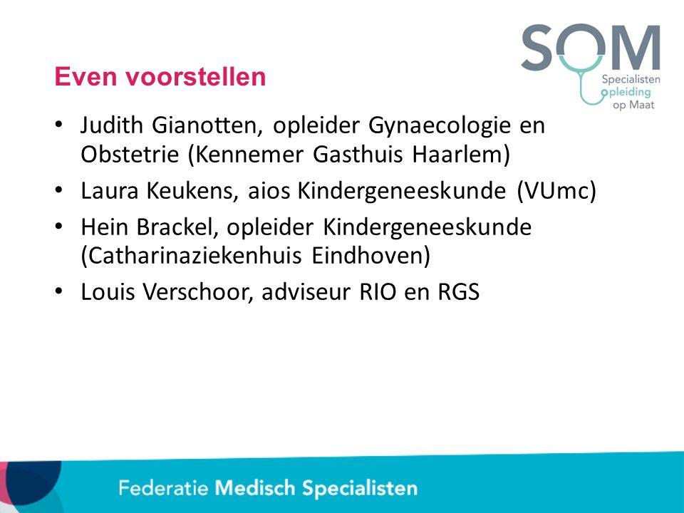 Even voorstellen Judith Gianotten, opleider Gynaecologie en Obstetrie (Kennemer Gasthuis Haarlem) Laura Keukens, aios Kindergeneeskunde (VUmc) Hein Br