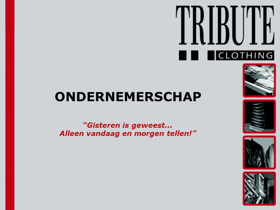 Vandaag… … Ondernemen … Jan Diebels … De ondernemer … Tribute … Het succes … Stelling … Onthoud … Ten slotte