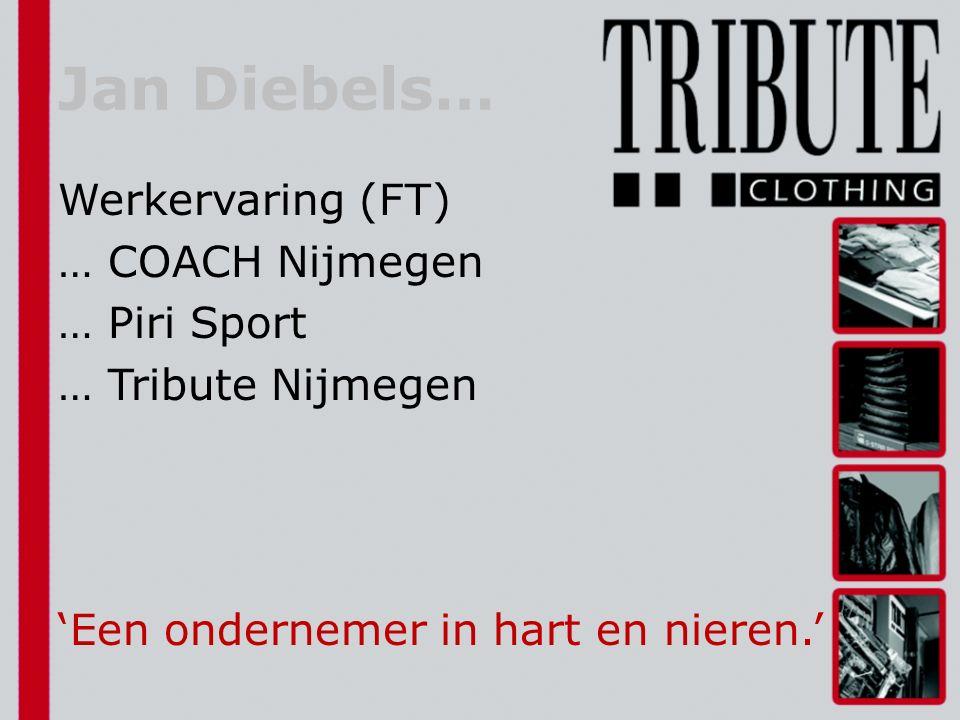 Werkervaring (FT) … COACH Nijmegen … Piri Sport … Tribute Nijmegen 'Een ondernemer in hart en nieren.' Jan Diebels…