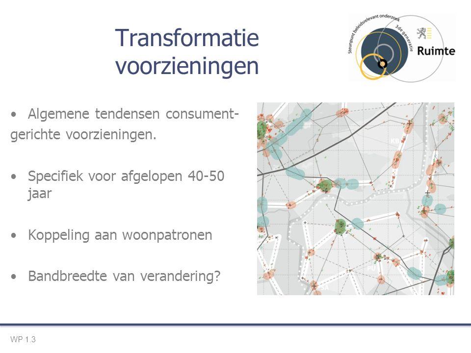Transformatie voorzieningen Algemene tendensen consument- gerichte voorzieningen.
