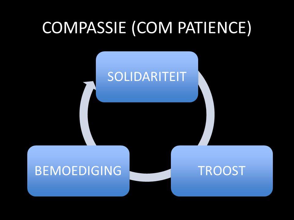 COMPASSIE (COM PATIENCE) SOLIDARITEITTROOSTBEMOEDIGING
