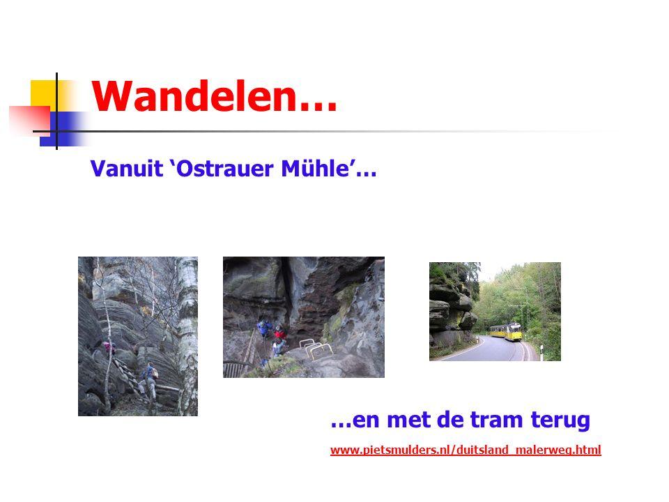 Wandelen… Vanuit 'Ostrauer Mühle'… …en met de tram terug www.pietsmulders.nl/duitsland_malerweg.html