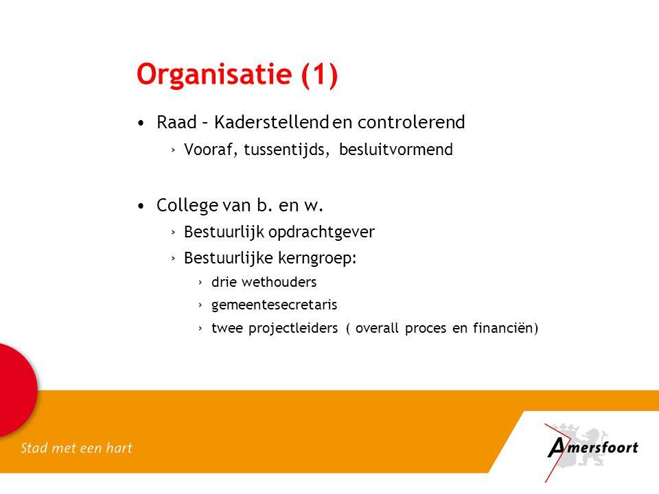 Organisatie (1) Raad – Kaderstellend en controlerend ›Vooraf, tussentijds, besluitvormend College van b.