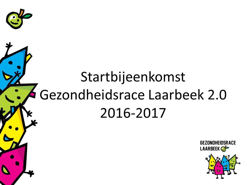 Startbijeenkomst Gezondheidsrace Laarbeek 2.0 2016-2017