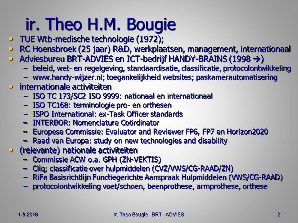 1-6-2016Ir. Theo Bougie BRT - ADVIES2 ir. Theo H.M.