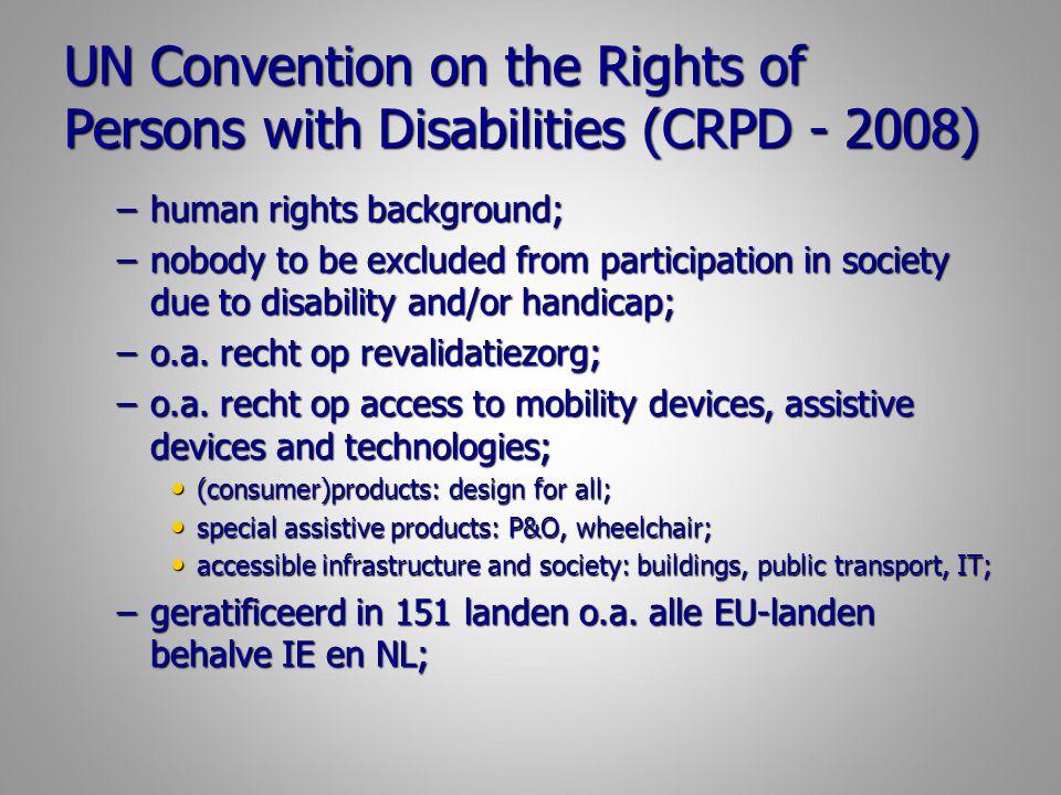 WHO Global Initiative GATE (2014) Global Cooperation on Assistive Health TEchnology http://www.who.int/phi/implementation/assistive_technology/phi_gate/en/; Global Cooperation on Assistive Health TEchnology http://www.who.int/phi/implementation/assistive_technology/phi_gate/en/; http://www.who.int/phi/implementation/assistive_technology/phi_gate/en/ WHO – initiatief in het kader van UN Convention to improve access to high quality affordable technology at global level and the importance of international cooperation; WHO – initiatief in het kader van UN Convention to improve access to high quality affordable technology at global level and the importance of international cooperation; –Stigmatiserende AT naar functioneel AT; –Weg van ziekte, naar participeren en welzijn; –Weg van overheid, naar burger; –Global coordination, o.a.