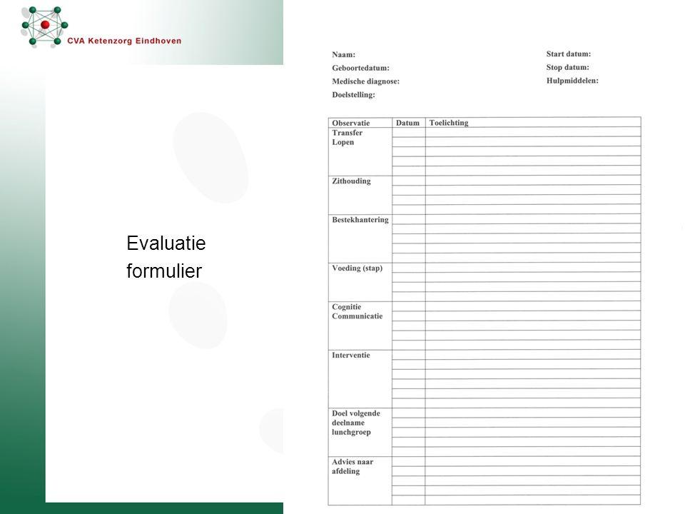 Evaluatie formulier