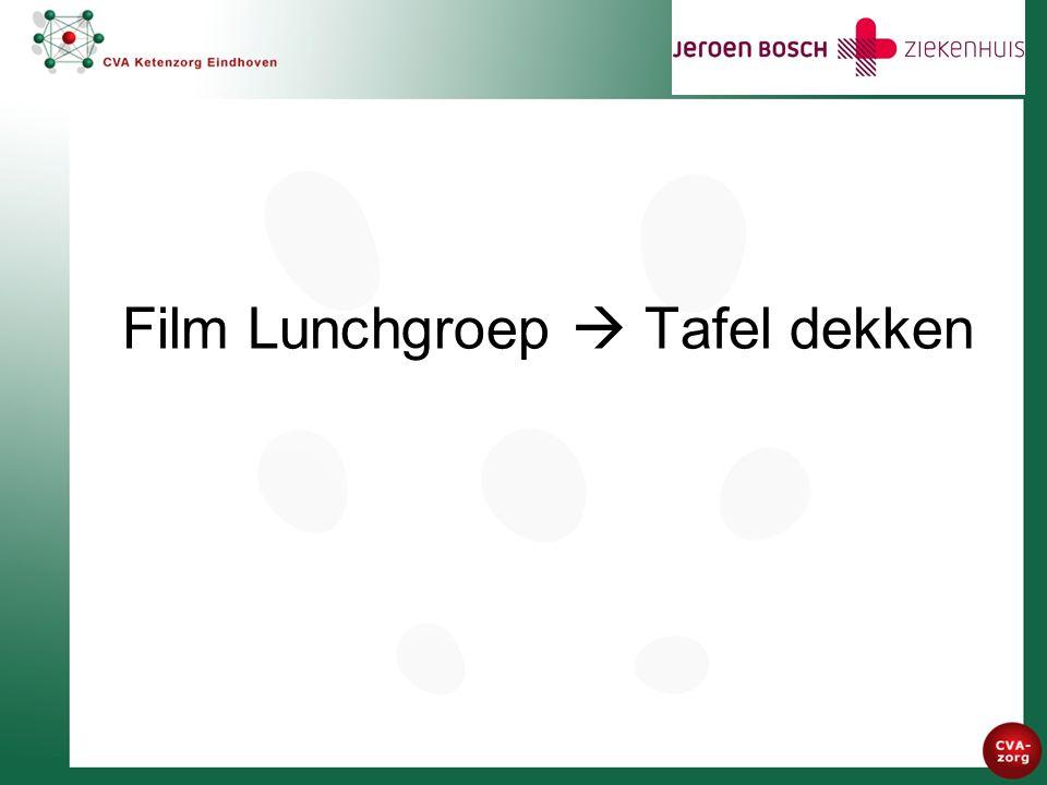 Film Lunchgroep  Tafel dekken