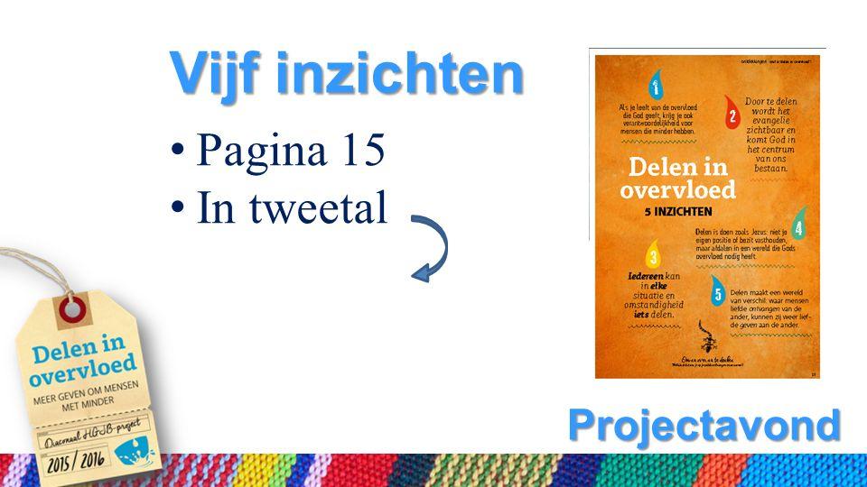 Projectavond Vijf inzichten Pagina 15 In tweetal