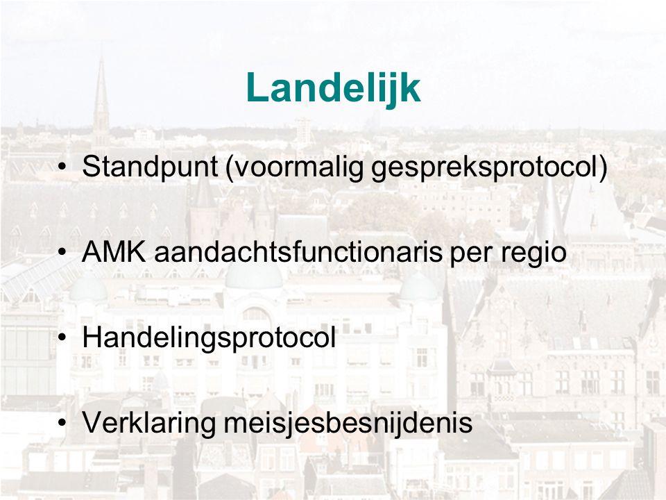 Landelijk Standpunt (voormalig gespreksprotocol) AMK aandachtsfunctionaris per regio Handelingsprotocol Verklaring meisjesbesnijdenis