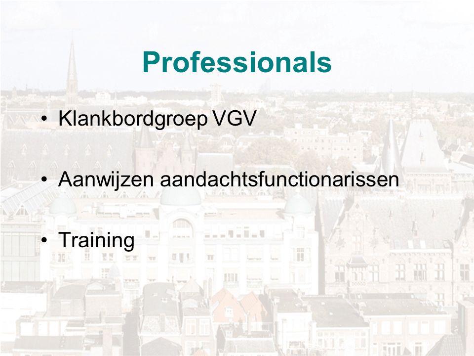 Professionals Klankbordgroep VGV Aanwijzen aandachtsfunctionarissen Training