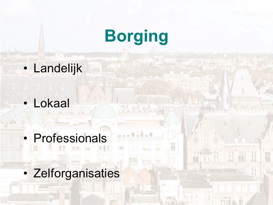 Borging Landelijk Lokaal Professionals Zelforganisaties