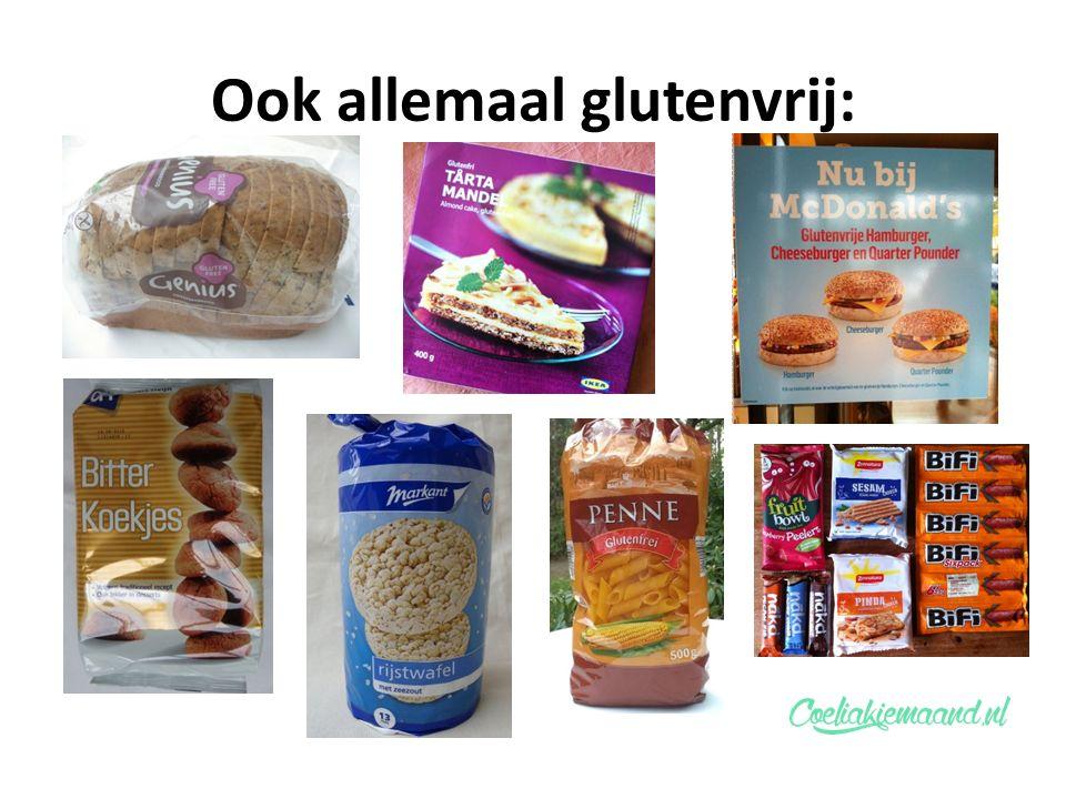 Ook allemaal glutenvrij: