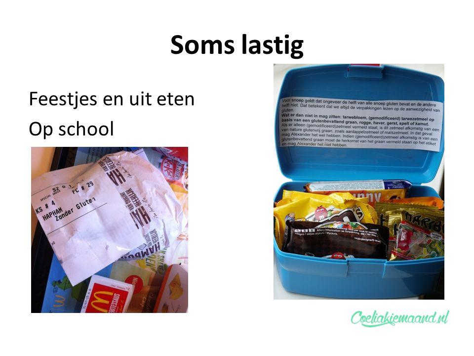 Soms lastig Feestjes en uit eten Op school