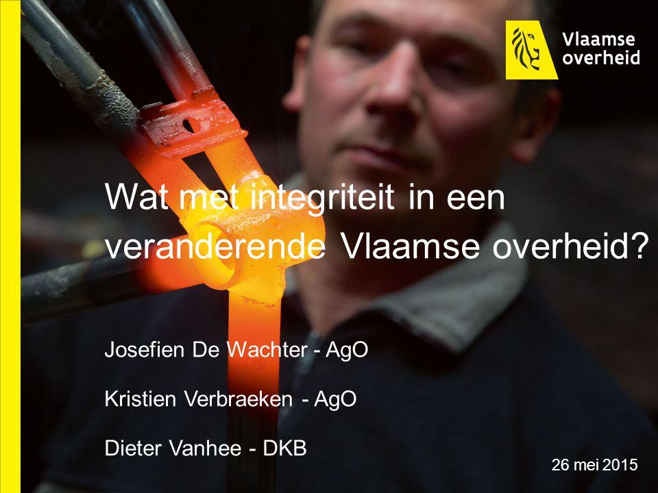 Wat met integriteit in een veranderende Vlaamse overheid.