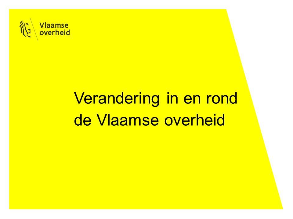 Verandering in en rond de Vlaamse overheid