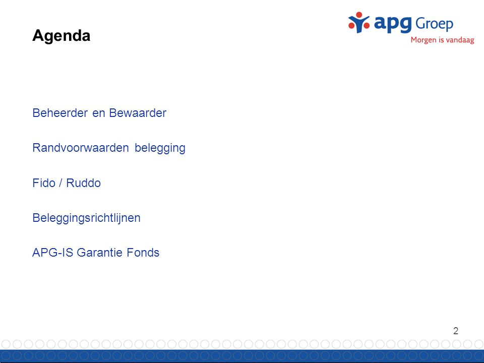 3 Beheerder en Bewaarder APG Investment Services N.V.