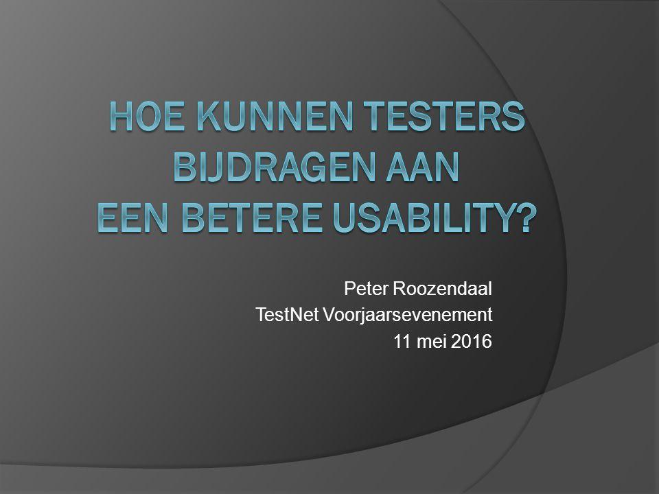 Peter Roozendaal TestNet Voorjaarsevenement 11 mei 2016