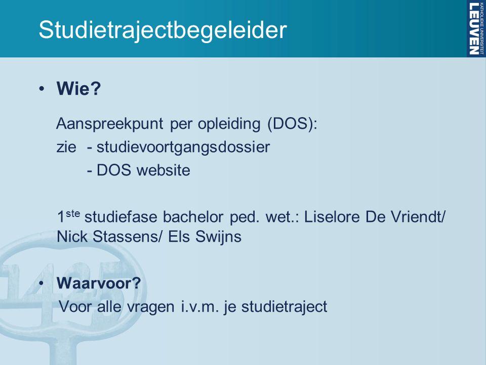 Studietrajectbegeleider Wie.