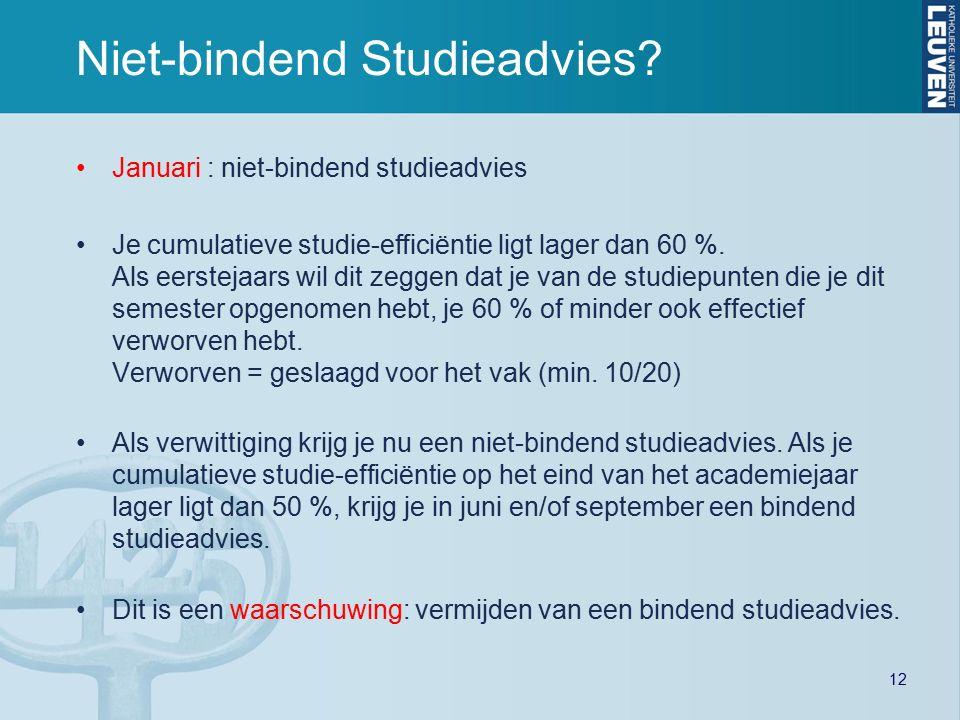 12 Niet-bindend Studieadvies.