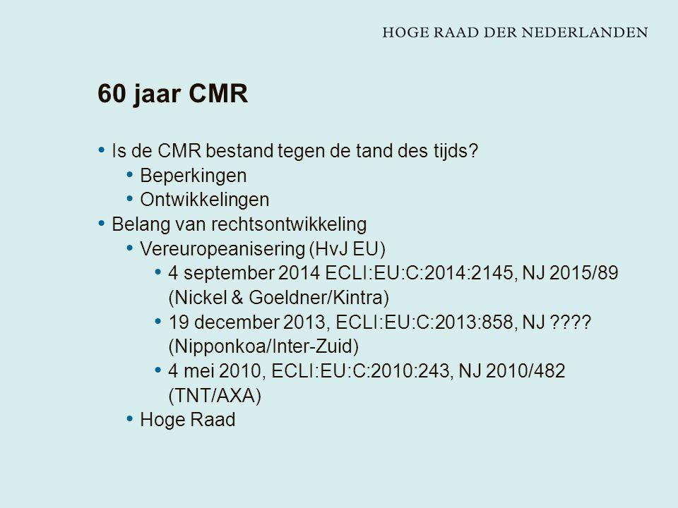 60 jaar CMR Is de CMR bestand tegen de tand des tijds.
