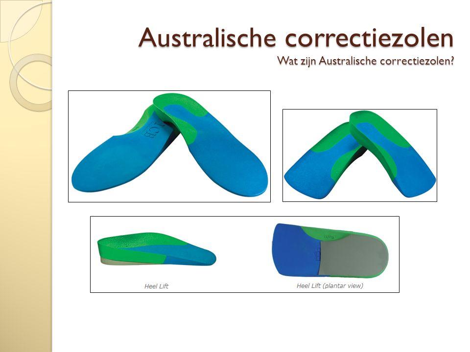 Australische correctiezolen Wat zijn Australische correctiezolen