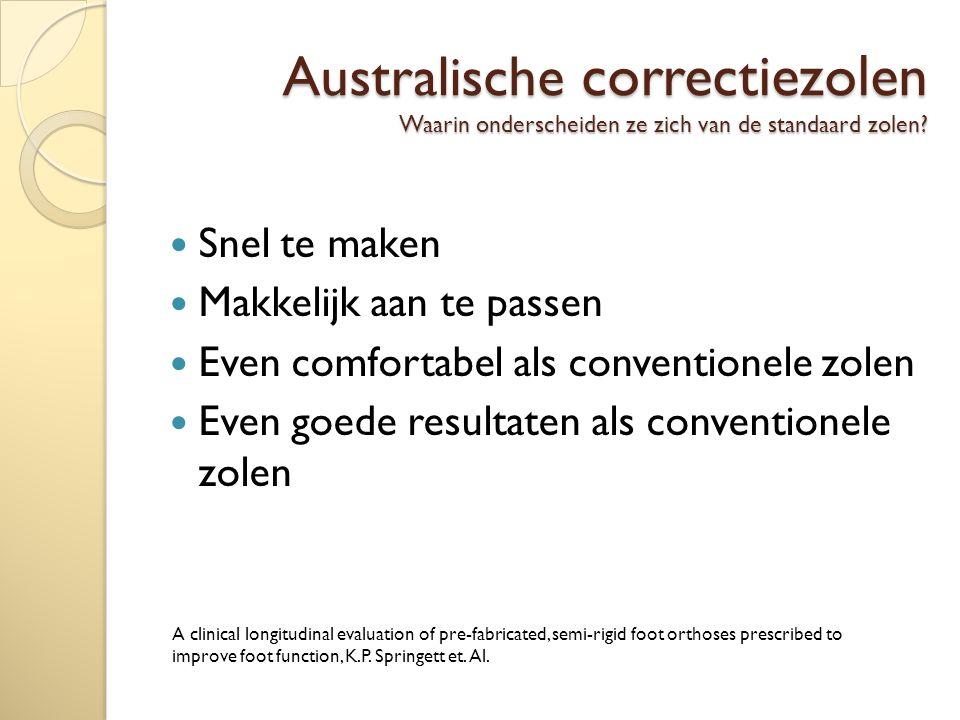 Australische correctiezolen Waarin onderscheiden ze zich van de standaard zolen.