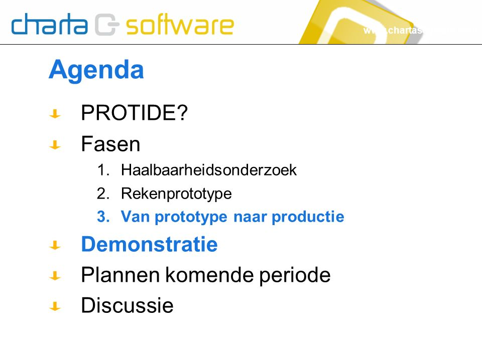www.chartasoftware.com Agenda PROTIDE.