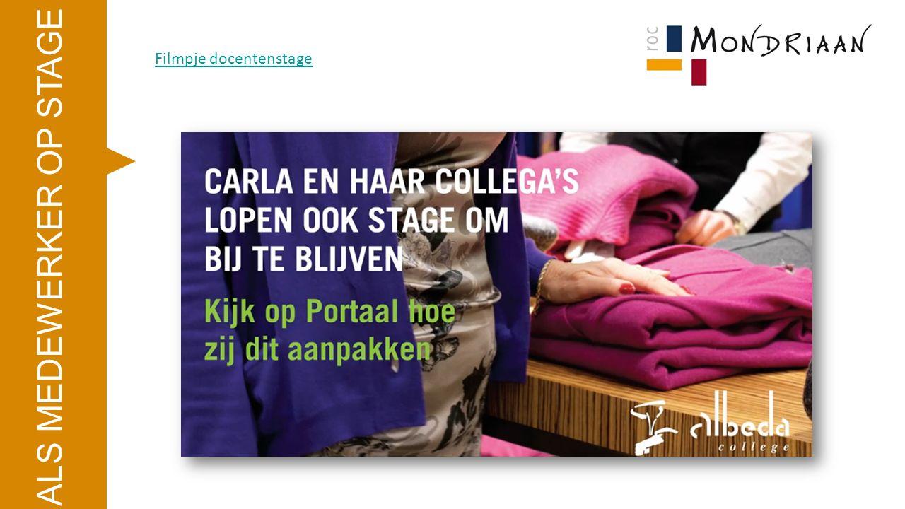 ALS MEDEWERKER OP STAGE http://www.docentenstages.nl/aanpak.php Soorten stage (b.v.