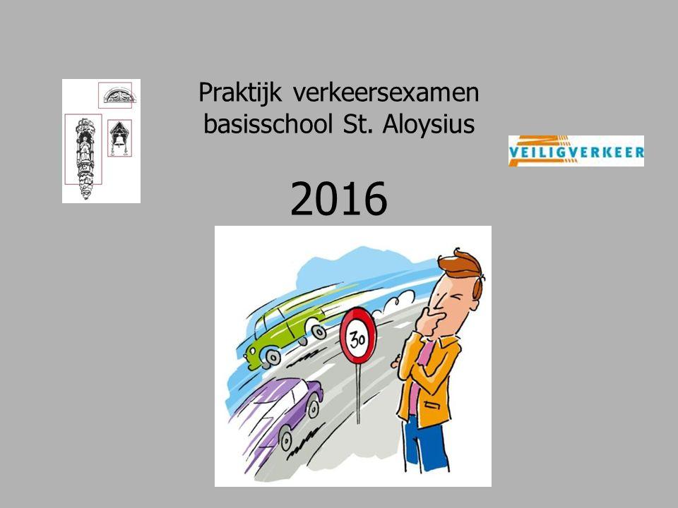 Praktijk verkeersexamen basisschool St. Aloysius 2016