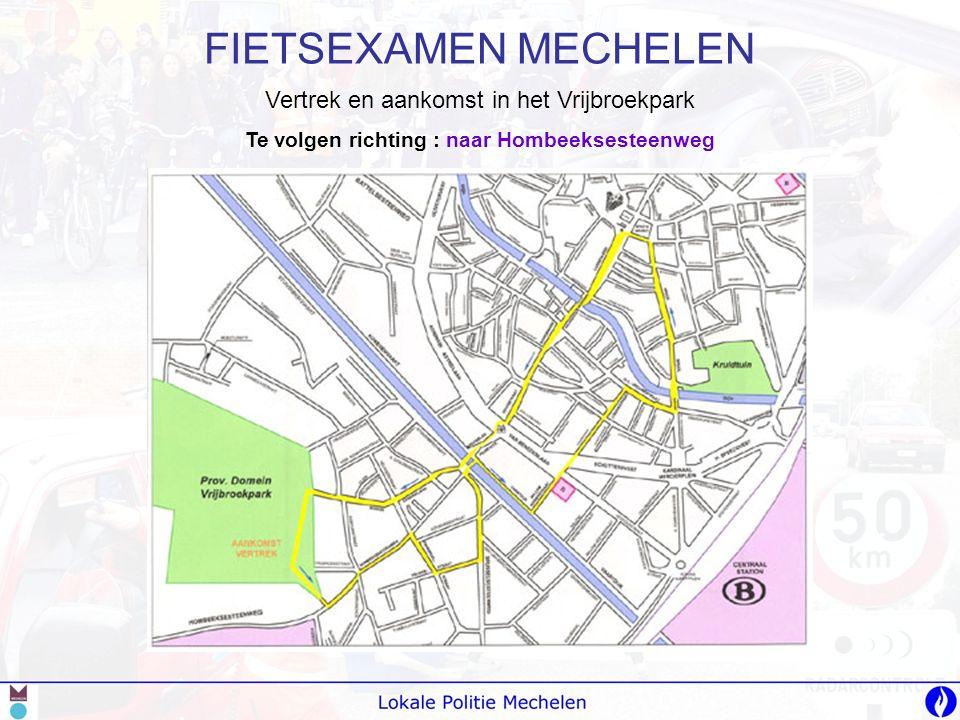 -A-Als je moet wachten voor de verkeerslichten gebruik je de opstelplaats voor fietsers; -B-Bij rechtdoor fietsen goed opletten voor auto's die rechtsaf slaan; Kruispunt Hoogstraat met Brusselse Poort Te volgen richting richting : rechtdoor naar Plaisance-brug