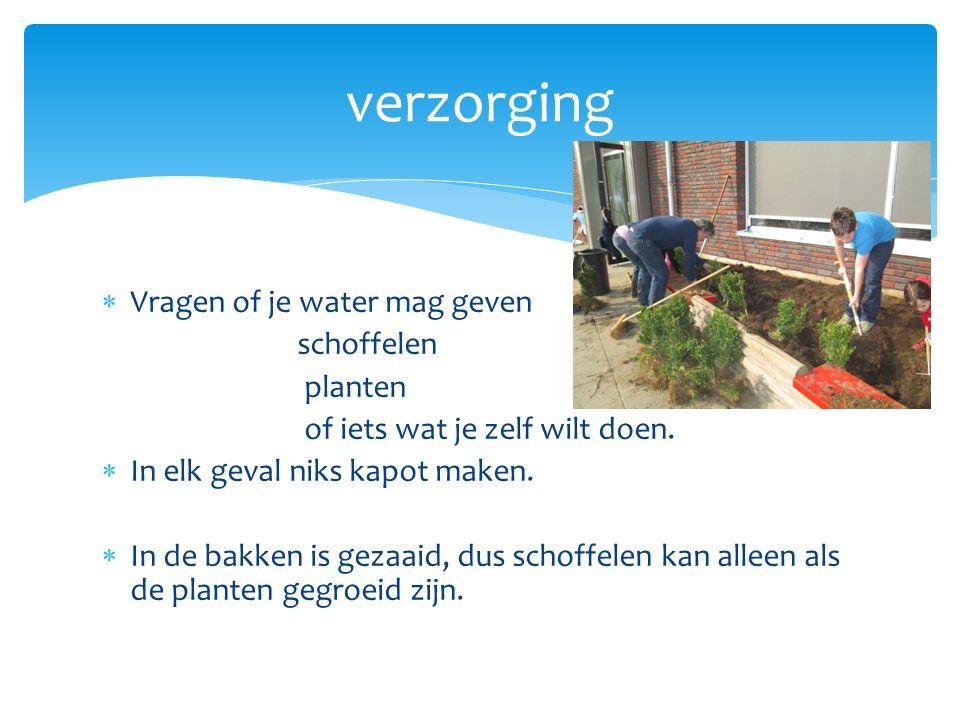  Vragen of je water mag geven schoffelen planten of iets wat je zelf wilt doen.