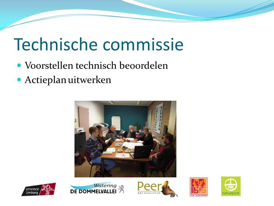Technische commissie Voorstellen technisch beoordelen Actieplan uitwerken