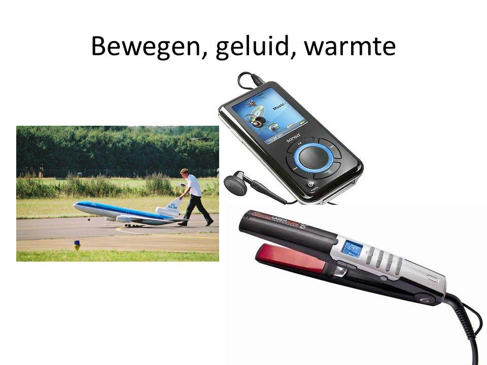 Bewegen, geluid, warmte