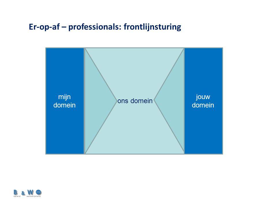 mijn domein ons domein jouw domein Er-op-af – professionals: frontlijnsturing