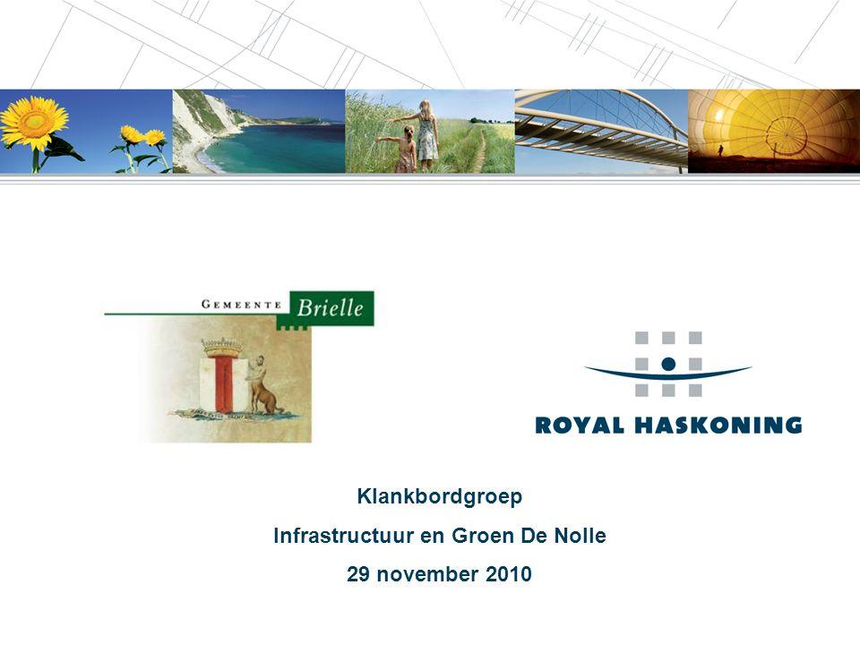 1 Klankbordgroep Infrastructuur en Groen De Nolle 29 november 2010