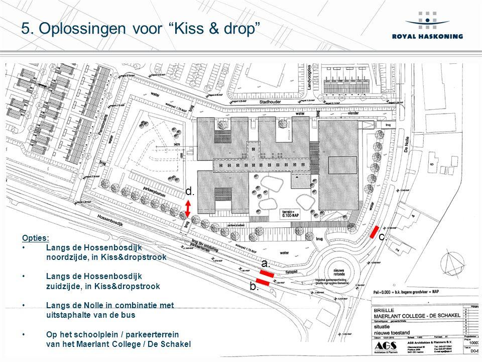 9 Voor- en nadelen per optie a.Hossenbosdijk noordzijde b.