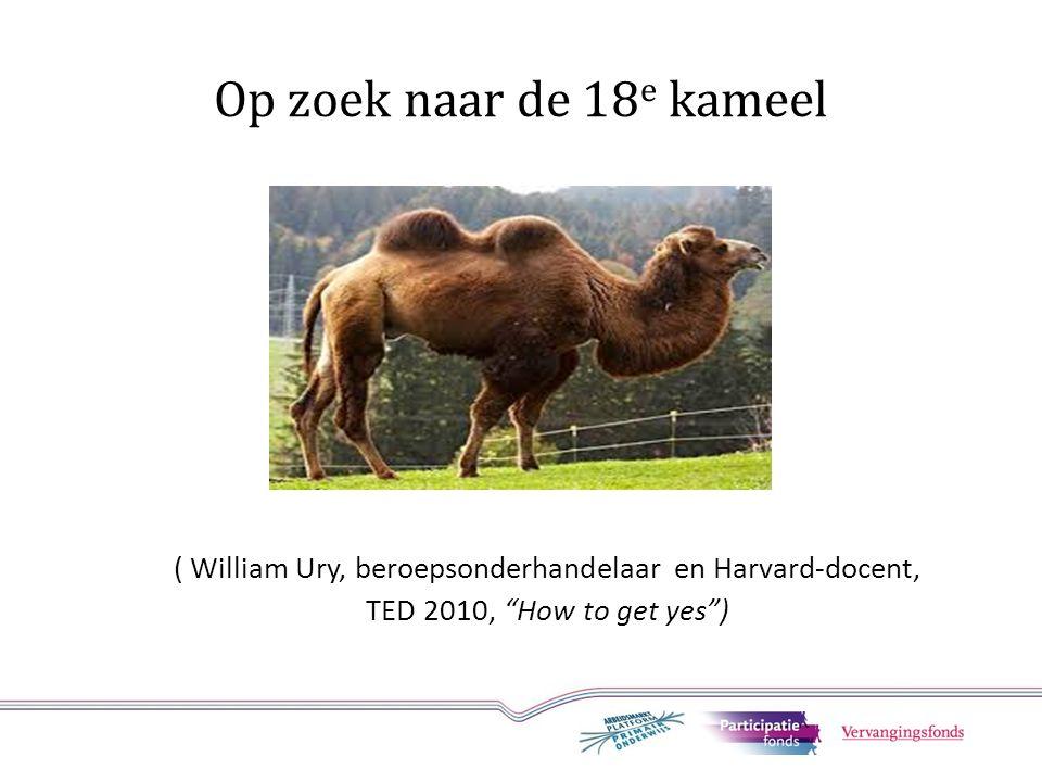 """Op zoek naar de 18 e kameel ( William Ury, beroepsonderhandelaar en Harvard-docent, TED 2010, """"How to get yes"""")"""