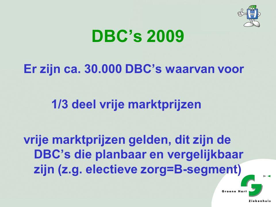 DBC's 2009 Er zijn ca.