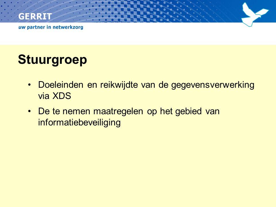 Stuurgroep Doeleinden en reikwijdte van de gegevensverwerking via XDS De te nemen maatregelen op het gebied van informatiebeveiliging
