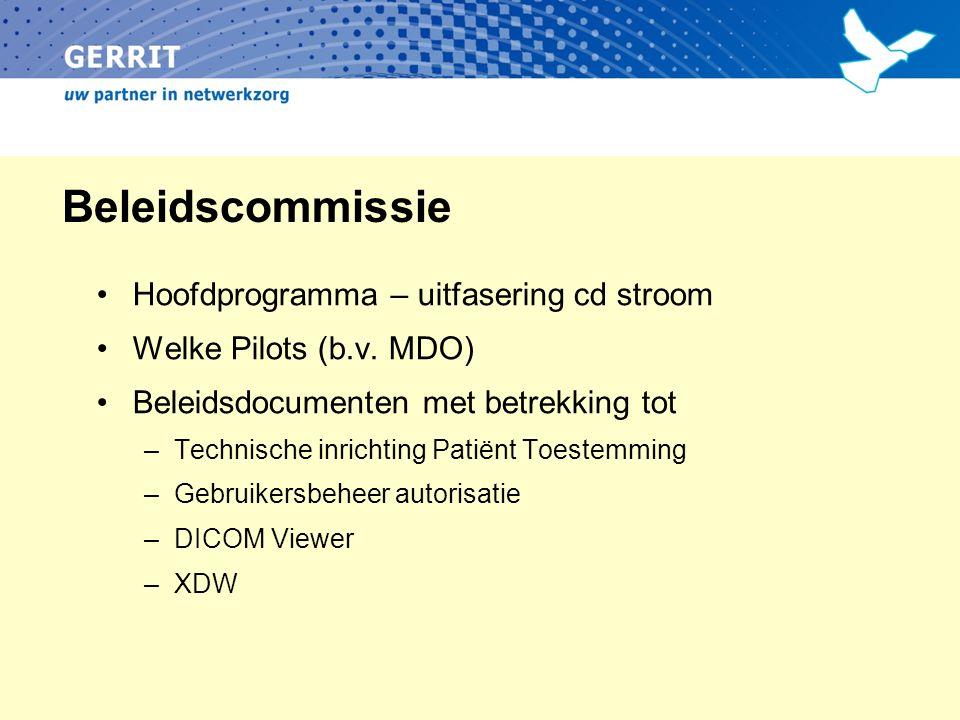 Beleidscommissie Hoofdprogramma – uitfasering cd stroom Welke Pilots (b.v.