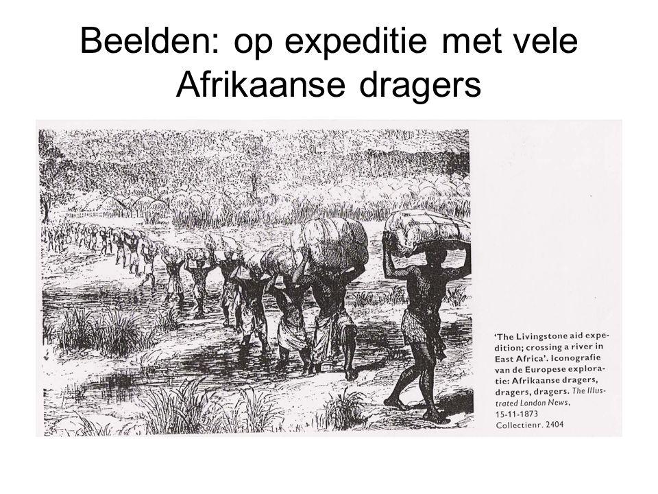 Beelden: op expeditie met vele Afrikaanse dragers