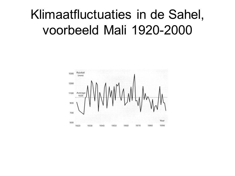 Klimaatfluctuaties in de Sahel, voorbeeld Mali 1920-2000