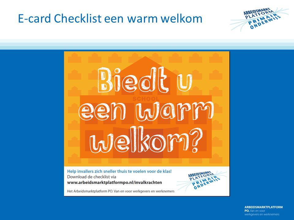 E-card Checklist een warm welkom