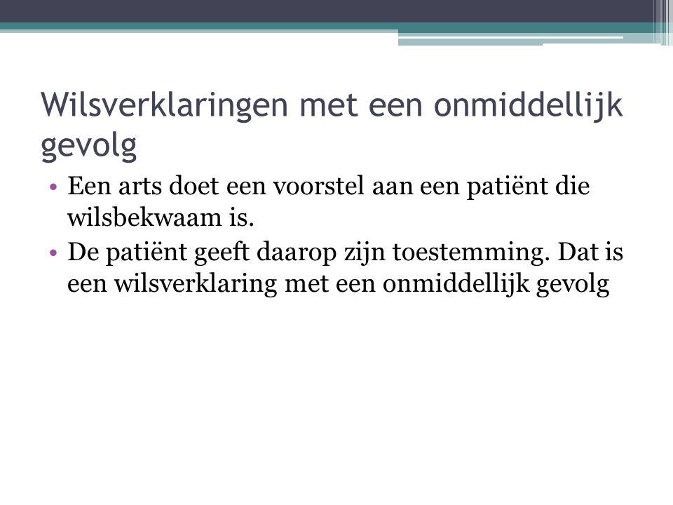 Andere leemten in de patiëntenrechtenwet Geldigheidsduur van de weigering van een welomschreven tussenkomst is niet bepaald.