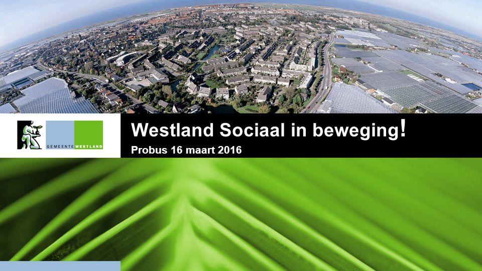  In 2015 geen excessen, gelukkig  Wel verbeteringen nodig, verbinden, stroomlijnen, innoveren: Westland blijft sociaal in beweging.