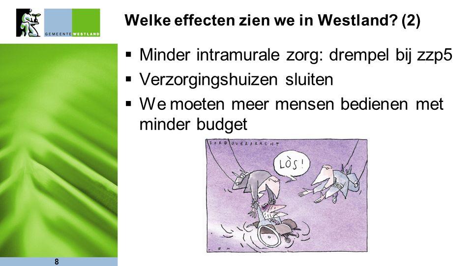 Welke effecten zien we in Westland.