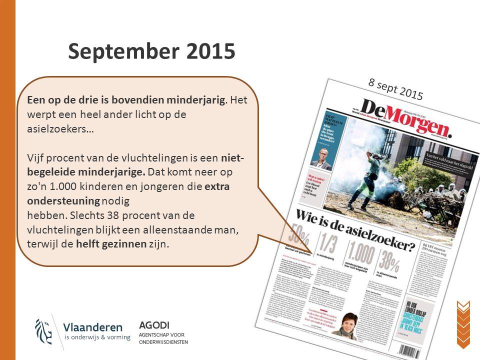 September 2015 2 september: uitnodiging voor werkgroep AN op 11/09 3 september: Sijsele 21 september: Leopoldsburg